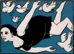 Anita Klein_flying-lady-with-birds
