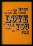 Letterpress, All You Need Is Love